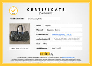 Authentication Certificate for Goyard