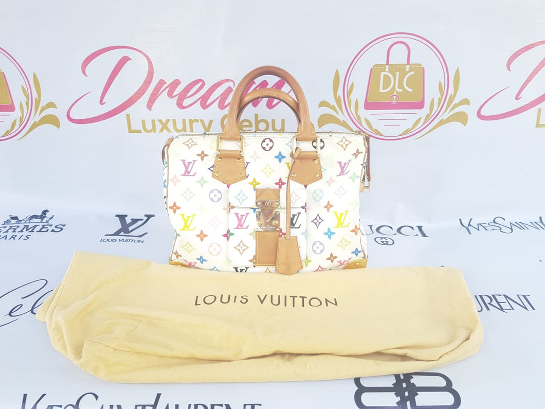 Authentic Louis Vuitton limited edition white multi color
