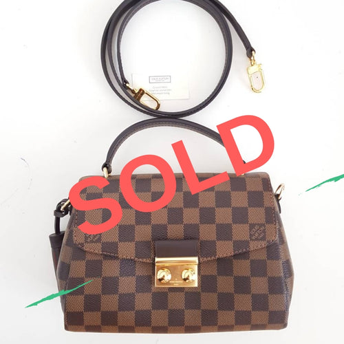 Louis Vuitton Damier Ebene Croisette Authentic