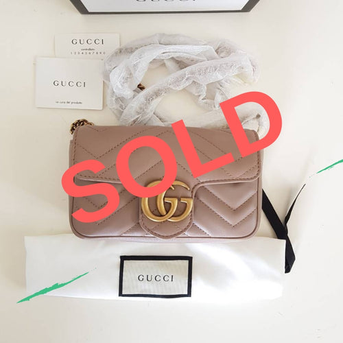 AUTHENTIC Gucci GG Marmont Matelasse Flap Mimi