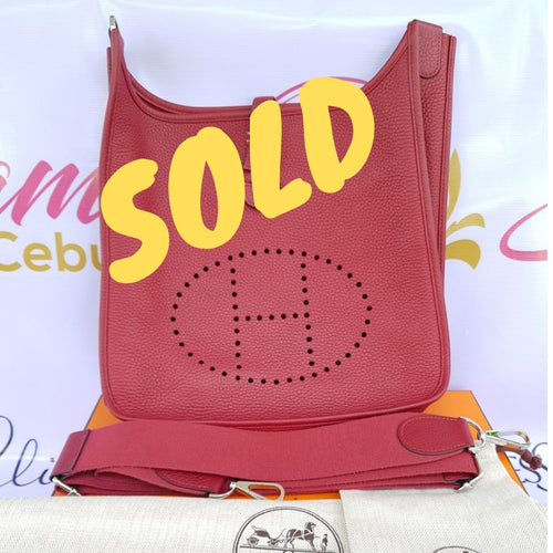 Sold Hermes Evelyn pm Rouge Grenat