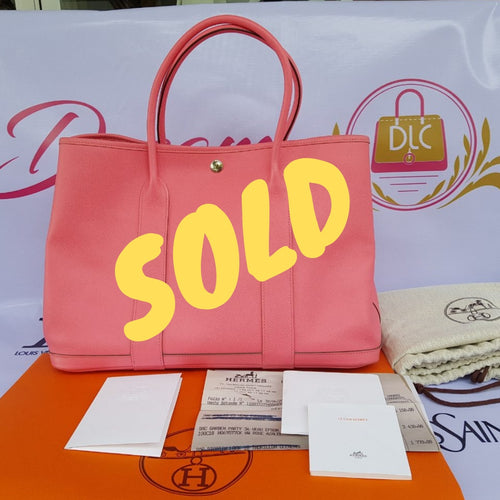 Sold Hermès Garden party 36 Epsom