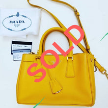 Load image into Gallery viewer, Prada Saffiano Lux Tote Mimosa