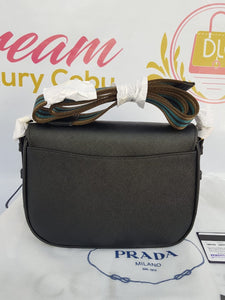 Authentic Prada 1BD192 Saffiano nero, cross body bag price