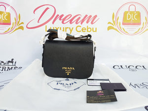 Authentic Prada 1BD192 Saffiano nero, cross body bag buy and sell
