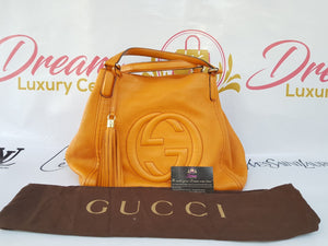 Authentic Gucci soho hobo  medium in tangerine price