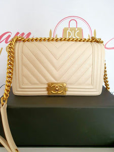 Authentic Chanel Le boy Chevron price