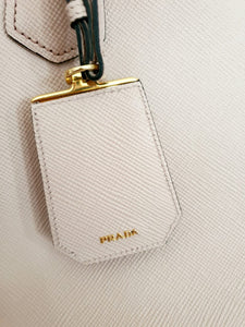 Authentic Prada saffiano cuir in cammeo beige monthly payments
