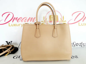 Authentic Prada saffiano cuir in cammeo beige