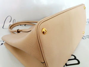 Authentic Prada saffiano cuir in cammeo beige consign