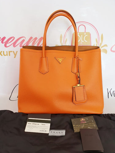 Authentic Prada saffiano cuir in papaya philippines