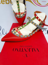 Load image into Gallery viewer, where to buy and sell Authentic Valentino cage flats