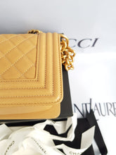 Load image into Gallery viewer, Unused Chanel le boy in small size caviar leather