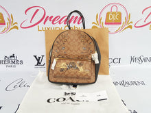 Load image into Gallery viewer, Brand new Authentic Coach limited edition painted canvas bag pack