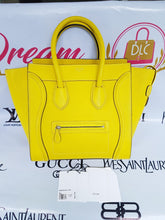 Load image into Gallery viewer, Authentic Celine mini luggage Citron