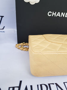 Authentic Chanel classic double flap medium in caviar leather Gold hardware layaway