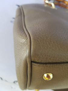 buy Gucci Bamboo Handbag Grained Leather