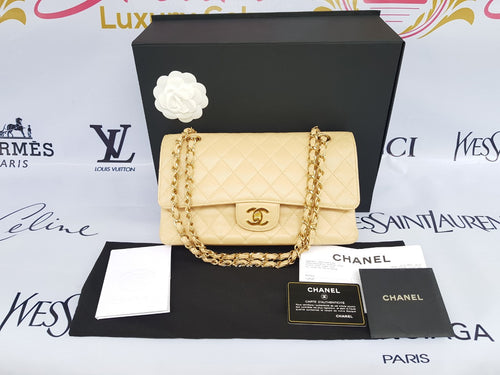 Authentic Chanel classic double flap medium in caviar leather Gold hardware philippines