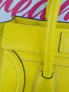 Authentic Celine mini luggage Citron how much