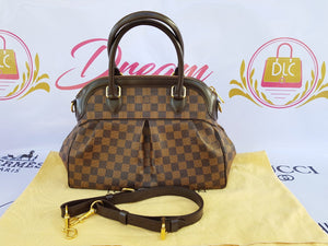Authentic Louis Vuitton Trevi pm Damier Ebene