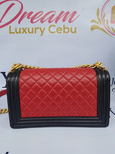 Load image into Gallery viewer, Authentic Chanel le boy bi color in lambskin leather matte gold hardware price
