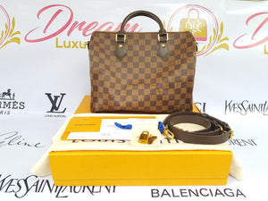 Brand new Authentic Louis Vuitton speedy 30 bandouliere damier ebene canvas philippines