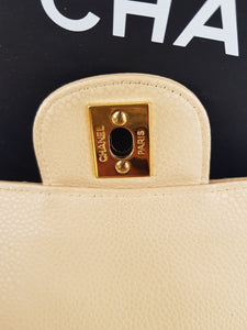 Authentic Chanel classic double flap medium in caviar leather Gold hardware legit seller