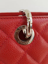 Load image into Gallery viewer, Chanel Red Quilted Caviar GST Grand Shopper Tote Bag SHW