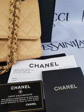 Load image into Gallery viewer, Authentic Chanel classic double flap medium in caviar leather Gold hardware seller
