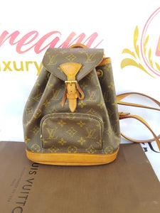 Authentic Louis Vuitton Montsouris Backpack Monogram consignment