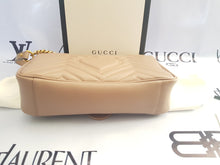 Load image into Gallery viewer, Brand new Authentic Gucci marmont flap in nude beige in antique gold Hardware cebu