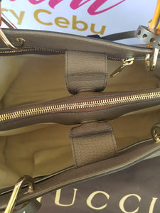 sell Gucci Bamboo Handbag Grained Leather