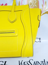 Load image into Gallery viewer, Authentic Celine mini luggage Citron consign