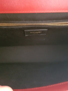 Authentic Ysl Saint Laurent monogramme envelope Large in caviar leather Gold hardware how much