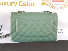 Load image into Gallery viewer, Authentic Chanel classic jumbo double clap in blue green Series 24 philippines