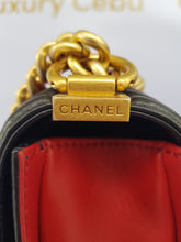 Load image into Gallery viewer, Authentic Chanel le boy bi color in lambskin leather matte gold hardware legit seller ph