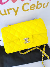 Load image into Gallery viewer, Authentic Chanel Mini Flap Caviar in Yellow philippines