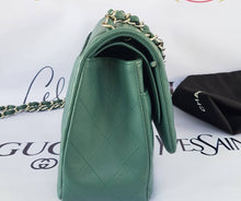 Load image into Gallery viewer, Authentic Chanel classic jumbo double clap in blue green Series 24 cebu