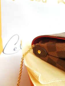 Authentic Louis Vuitton favorite mm damier ebene canvas consignment