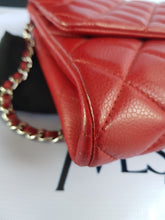 Load image into Gallery viewer, Authentic Chanel Jumbo Clutch Burgundy Red pawn online
