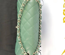 Load image into Gallery viewer, Authentic Chanel classic jumbo double clap in blue green Series 24