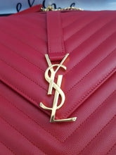 Load image into Gallery viewer, Authentic Ysl Saint Laurent monogramme envelope Large in caviar leather Gold hardware layaway terms
