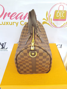 Brand new Authentic Louis Vuitton speedy 30 bandouliere damier ebene canvas how much