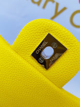 Load image into Gallery viewer, Authentic Chanel Mini Flap Caviar in Yellow ncash