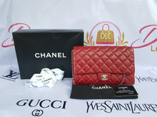 Load image into Gallery viewer, Authentic Chanel Jumbo Clutch Burgundy Red Philippines