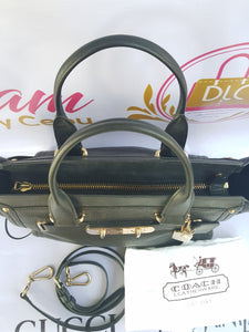 Authentic Coach Black Leather Satchel Cebu