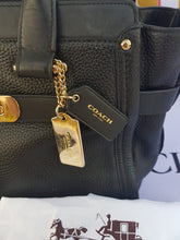 Load image into Gallery viewer, Authentic Coach Black Leather Manila