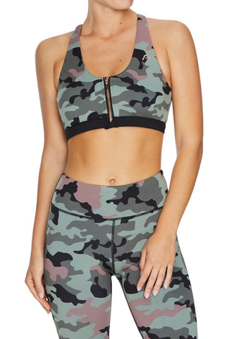 Force MI Zip Sports Bra