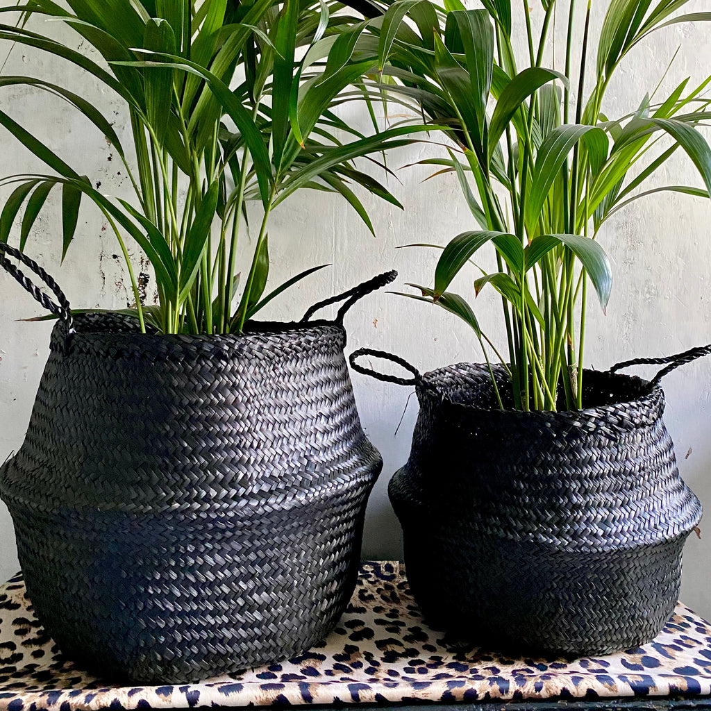 Black Seagrass Storage Basket