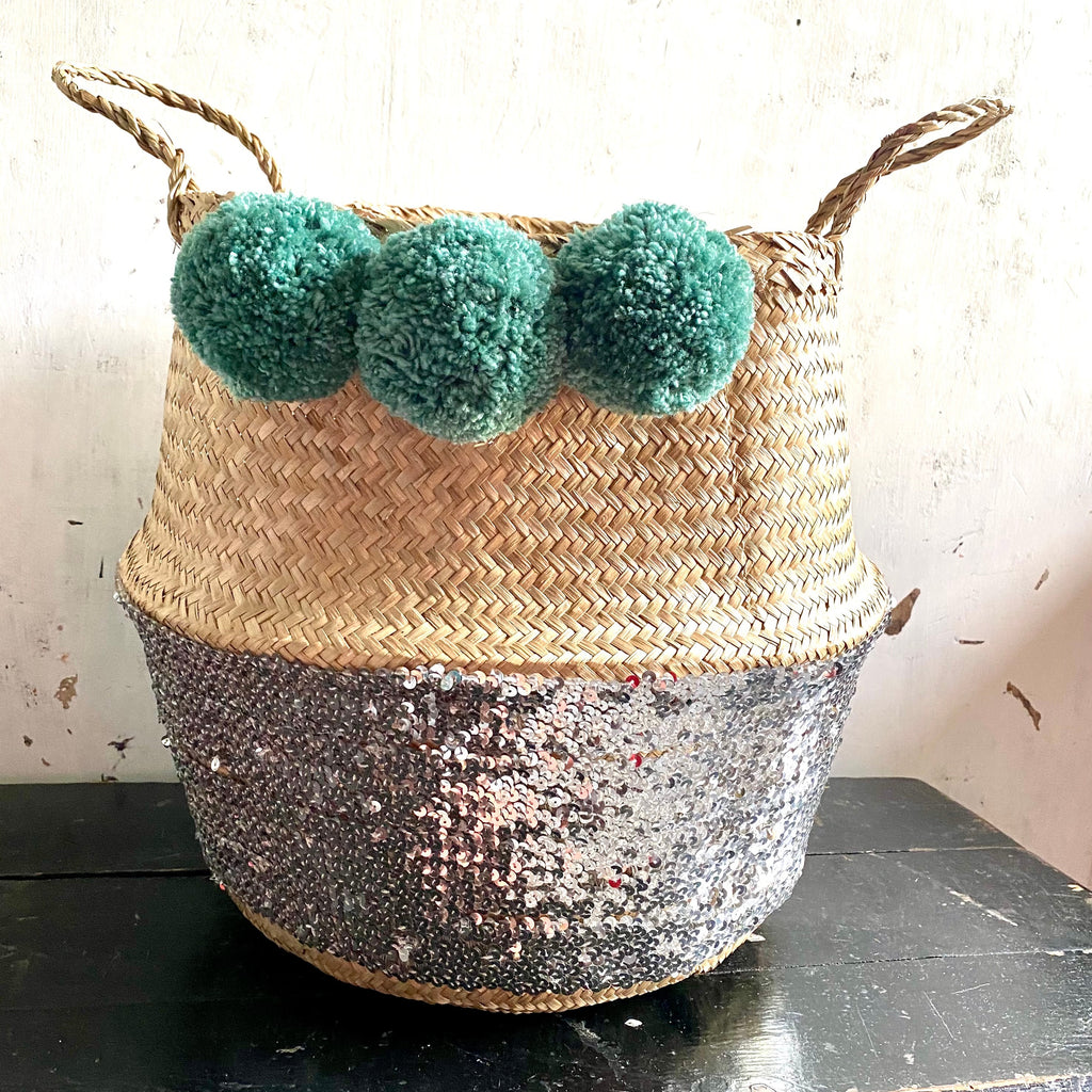 Green Teal Pom Poms from Forest Fox